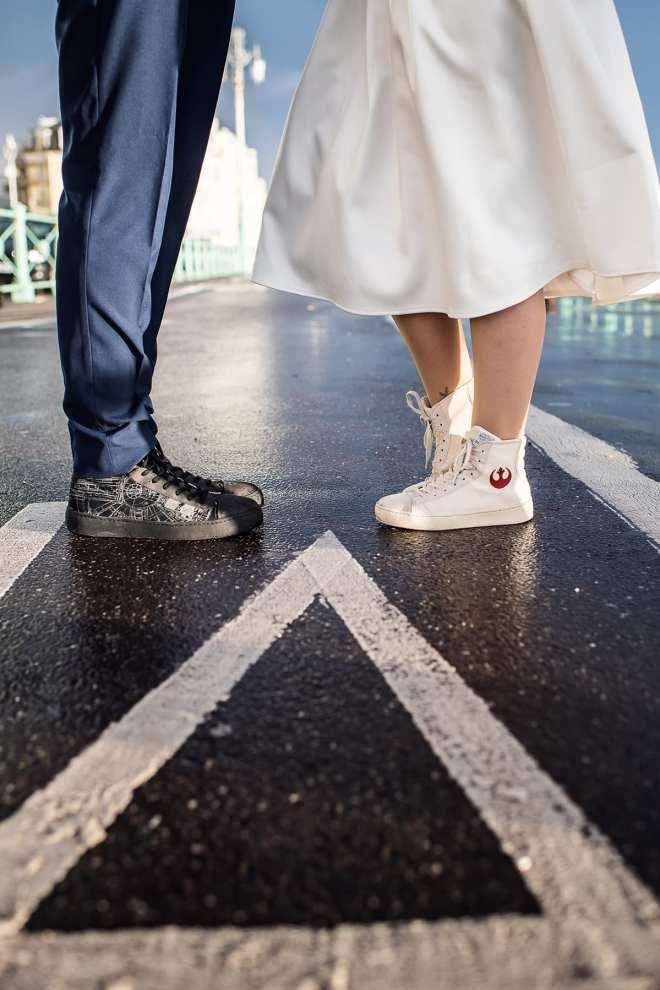 Po-Zu wedding sneakers