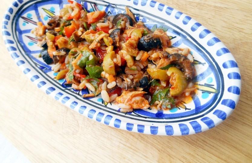 harissa olive mackerel salad