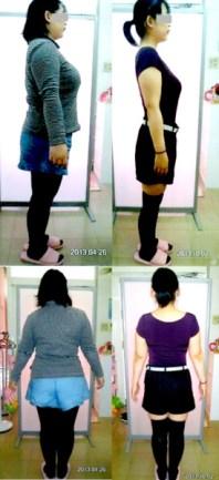 体重73.8kg→53.3kg 体脂肪47.1%→34.5%