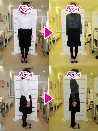 体重73.0kg→51.6kg 体脂肪43.2%→23.1% 内臓脂肪Lv9→Lv4