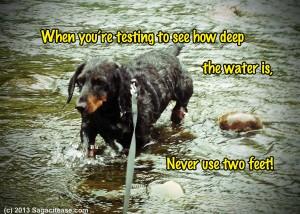G testing water