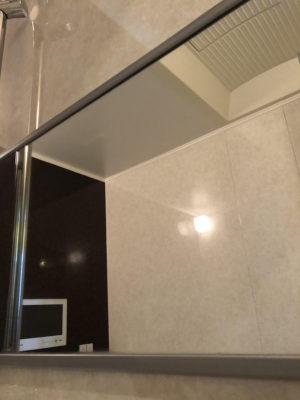 佐賀市の風呂鏡掃除