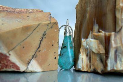Blue Chrysocolla, Arizona mineral, gemstone pendant