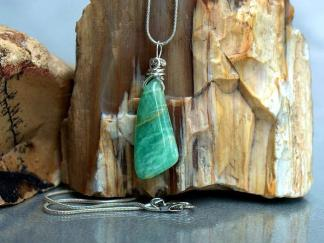 The stone of truth, green crystal charm, Amazonite