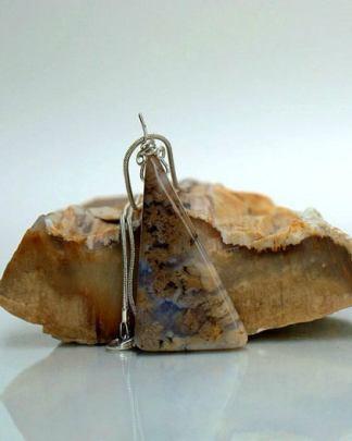 Plume Agate gemstone talismannecklace