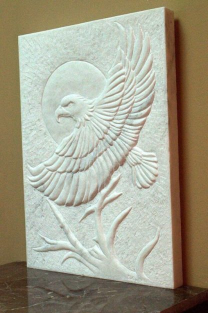 Relief Marble panel, original stone art carving