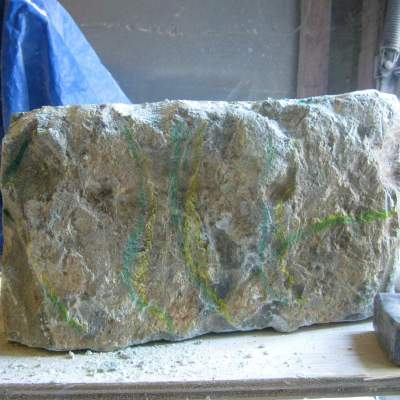 the raw stone before shaping