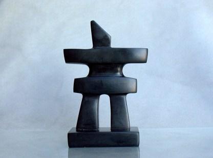 black stone Inukshuk