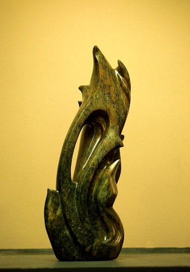 Soapstone carving abstract