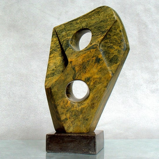 brown soapstone abstract sculpture