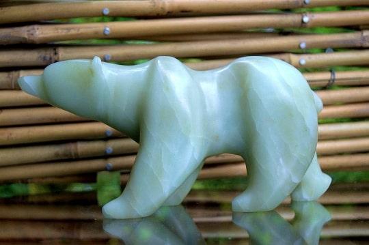 light green polar bear figurine