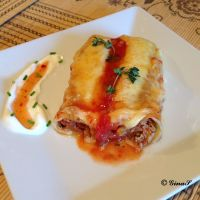 Cannelloni cu carne in sos tomat