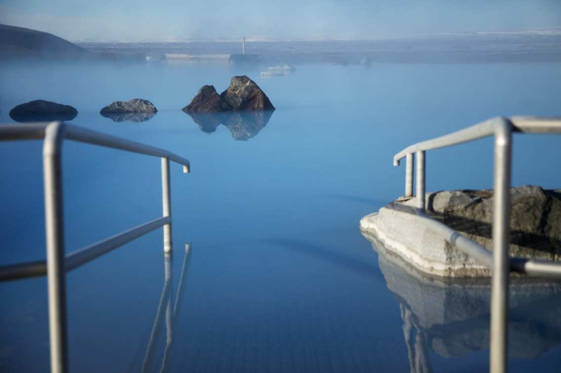 Soak in the geothermal baths at Lake Mývatn