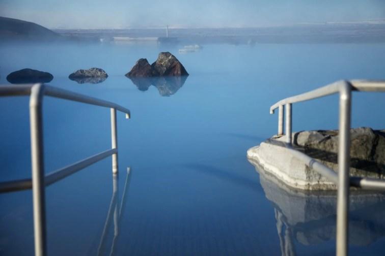 Soak in the geothermal baths at Lake Mývatn