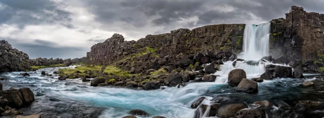 Öxarárfoss is a waterfall in Þingvellir National Park