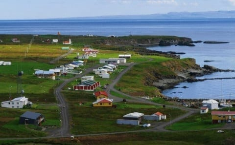 Grimsey by the arctic circle