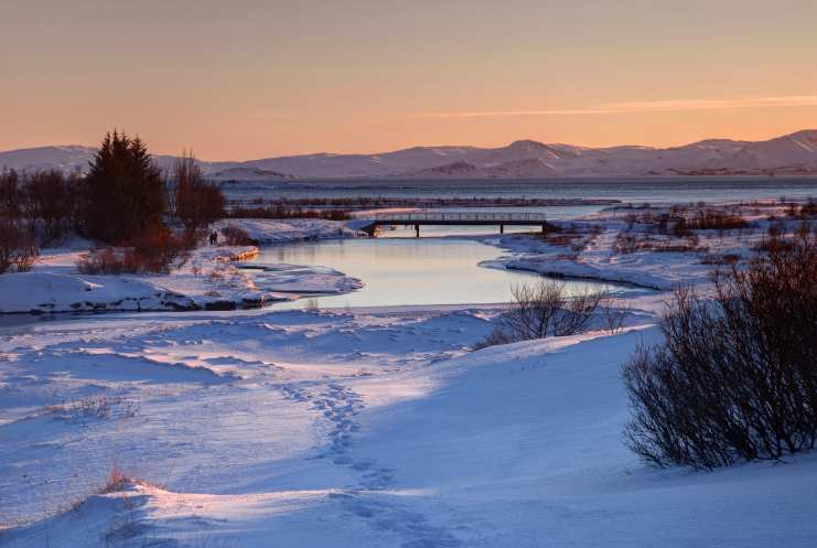 Thingvellir National Park in Winter
