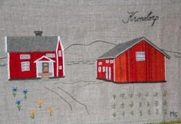 KRONOTORP År 1909 beslutade riksdagen att i Gävleborgs, Kopparbergs, Jämtlands och Västernorrlands län samt nedom odlingsgränsen i Väster- och Norrbottens län upplåta statlig mark för s k Kronotorp, med 50 års arrende- och skattefrihet och 2000 kr i bidrag till hus- och lagårdsbygge. Avsikten var att stimulera nyodlingen i skogslänen och att få tillgång till arbetskraft vid skogsarbeten, dikesgrävning och flottning. Sammanlagt omkring 3000 småbruk uppodlades fram till 40-talet, för det mesta under svåra och knappa förhållanden. En stor del av kronotorparhusen står fortfarande kvar. Ett särskilt stort ansvar vilade på kronotorparhustrurna, speciellt när männen gjorde dagsverken miltals från hemmet. Kvinnorna stod för skötseln av huset, lagården och djuren samt tillsynen av barnen.