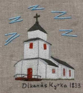 Dikanäs kyrka Dikanäs kyrka byggdes 1832-33. Nybyggarna från Dikanäs och kringliggande byar bildade Dikanäs kapellag. 1901 fick Dikanäs kapellag sin egen kapellpredikant. Storbonden Olof Kristoffersson i Söråsele skänkte 1843 den lilla klockan som hänger vid orgeln. Samme man skänkte även den gamla Åsele-klockan som hänger i tornet, gjuten 1647 och därmed lappmarkens äldsta kyrkklocka. Vid renoveringen 1933 fick kyrkan som gåva nuvarande altartavla, målad av Torsten Nordberg, en av Sveriges mest anlitade kyrkokonstnärer. Predikstolen är från 1786 och kommer troligen från Åsele. Takkronorna är kopior av Vilhelmina första kyrkas kronor från 1785. Orgeln är tillverkad 1985 av Johannes Menzel i Härnösand. Kyrkans första pedalorgel finns på Vilhelmina museum.
