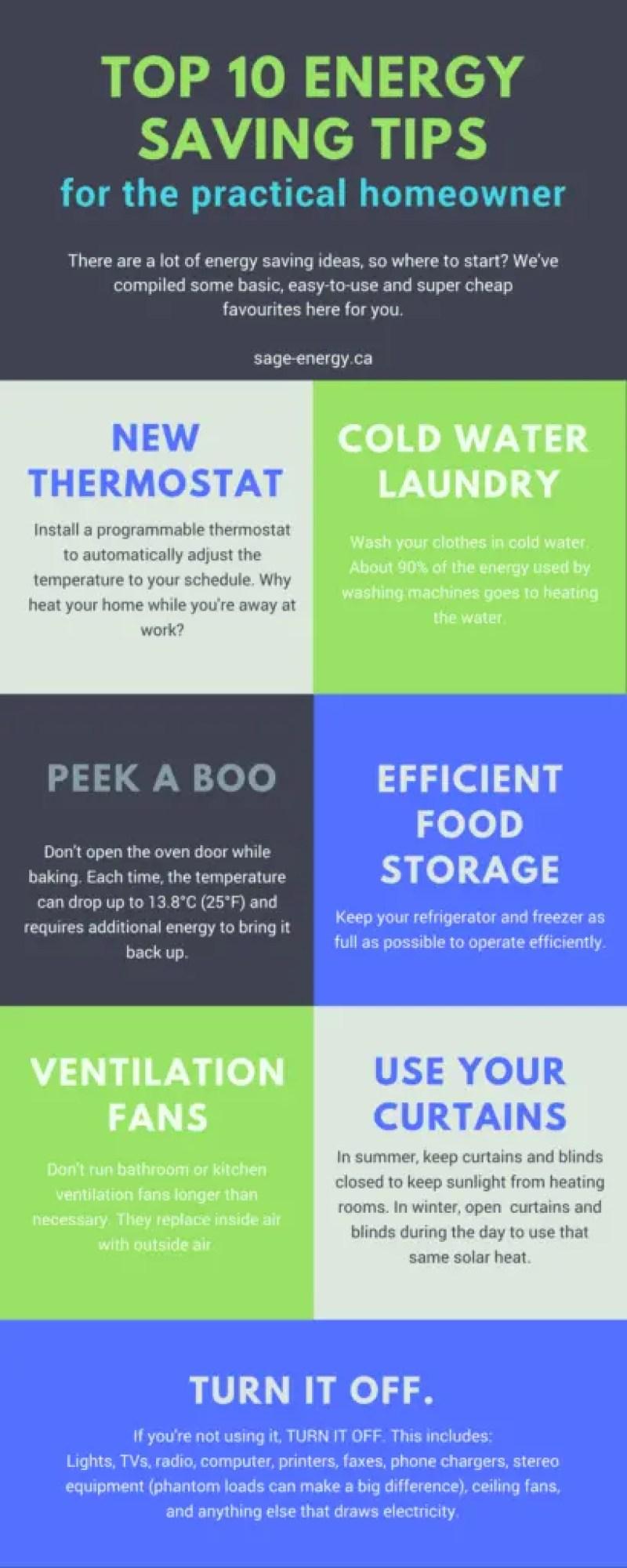 top 10 energysaving tips