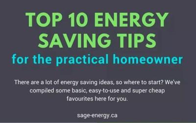 Our Top 10 Energy Saving Tips