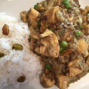 Curried Lentils with Chicken