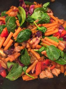 Red Lentil Pasta with Veggies