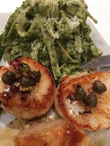 Seared Sea Scallops with Brown Butter Caper Sauce