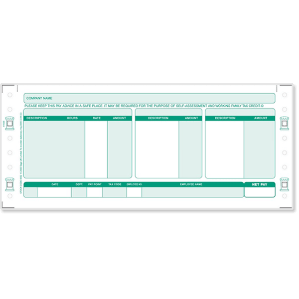 Sage Security Payslip - 3 Parts