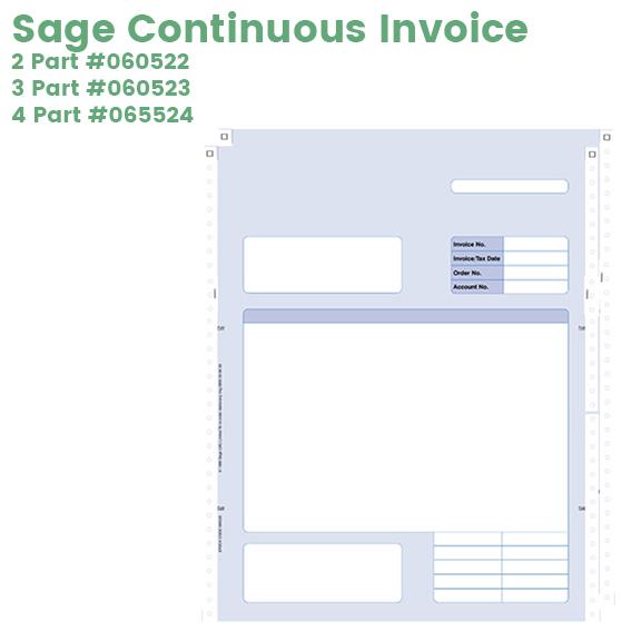 Sage continuous invoice 060522