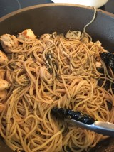 Pasta into the pan