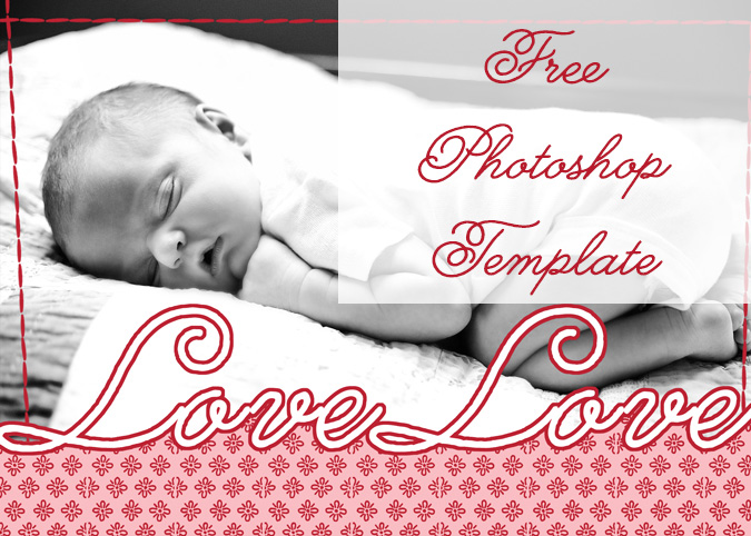 Love Love Photoshop Template