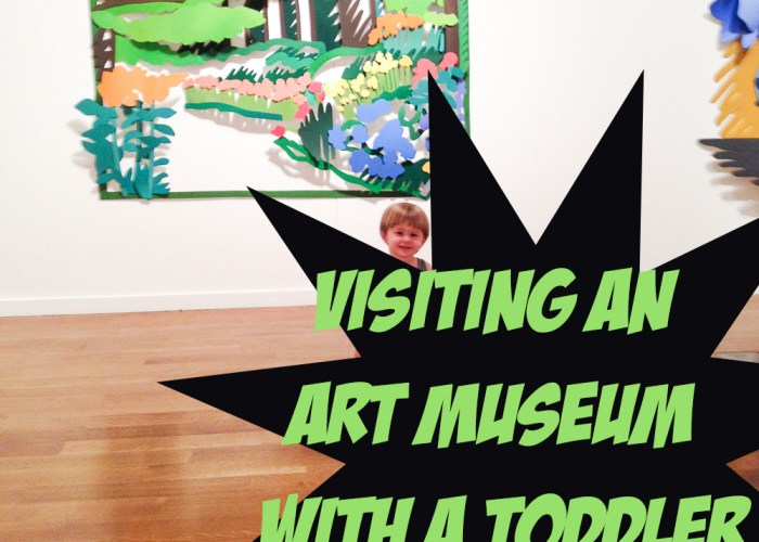 Visiting an art museum with a toddler