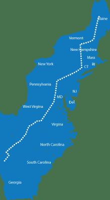 Appalachian map