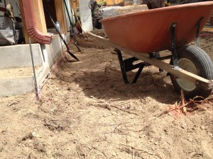 My Bigfoot Trail training consists of building a patio... could be a slow start!