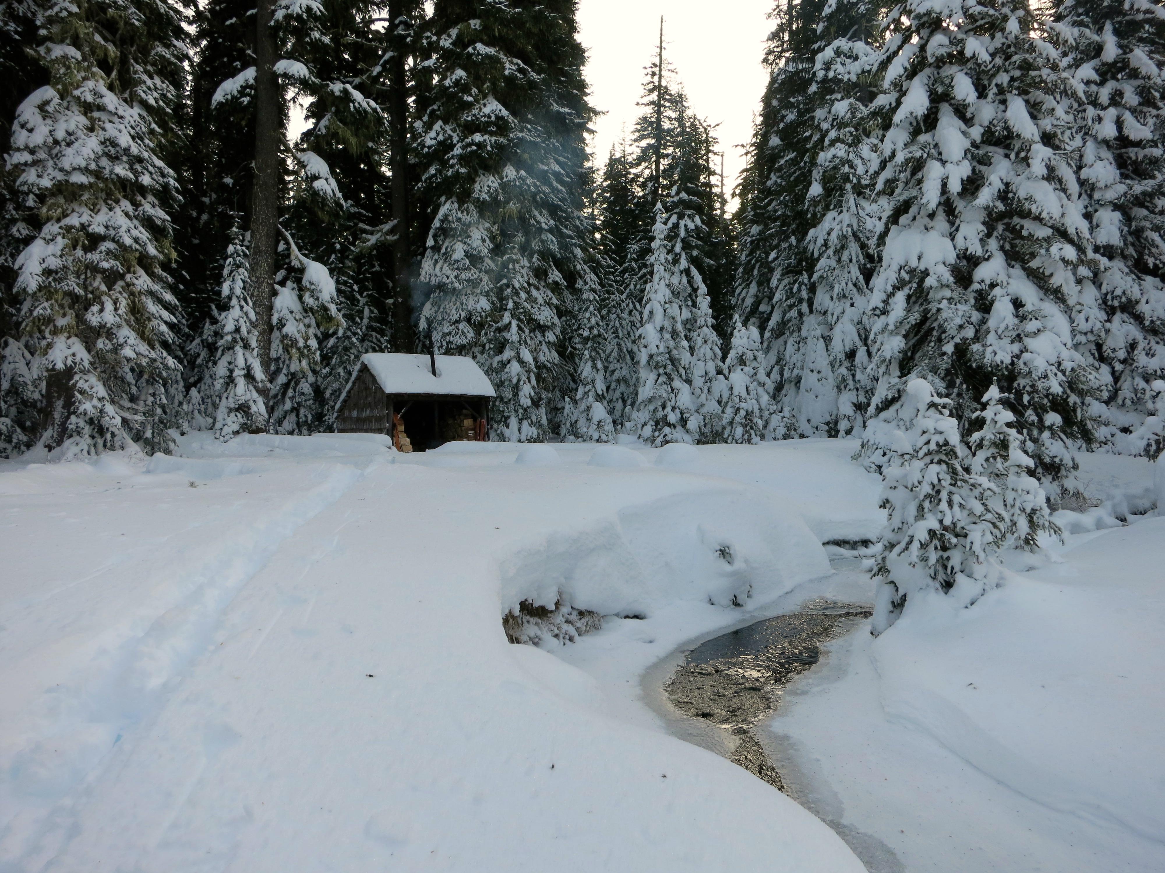 Snow and woodsmoke