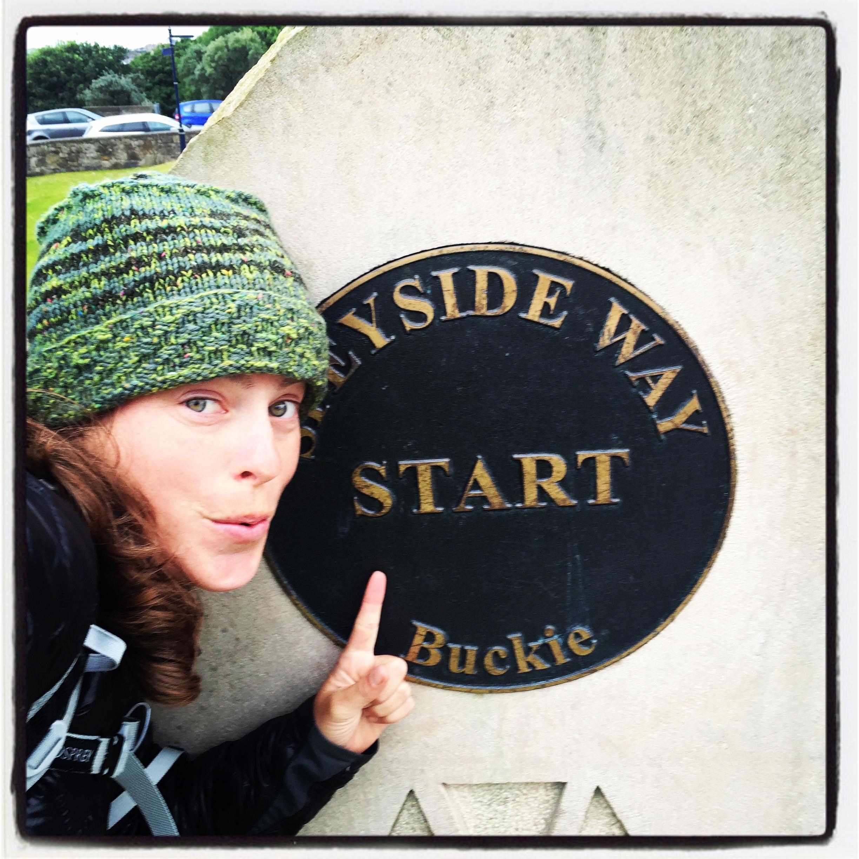 starting the Speyside Way in Buckie