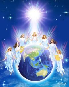Angel around World