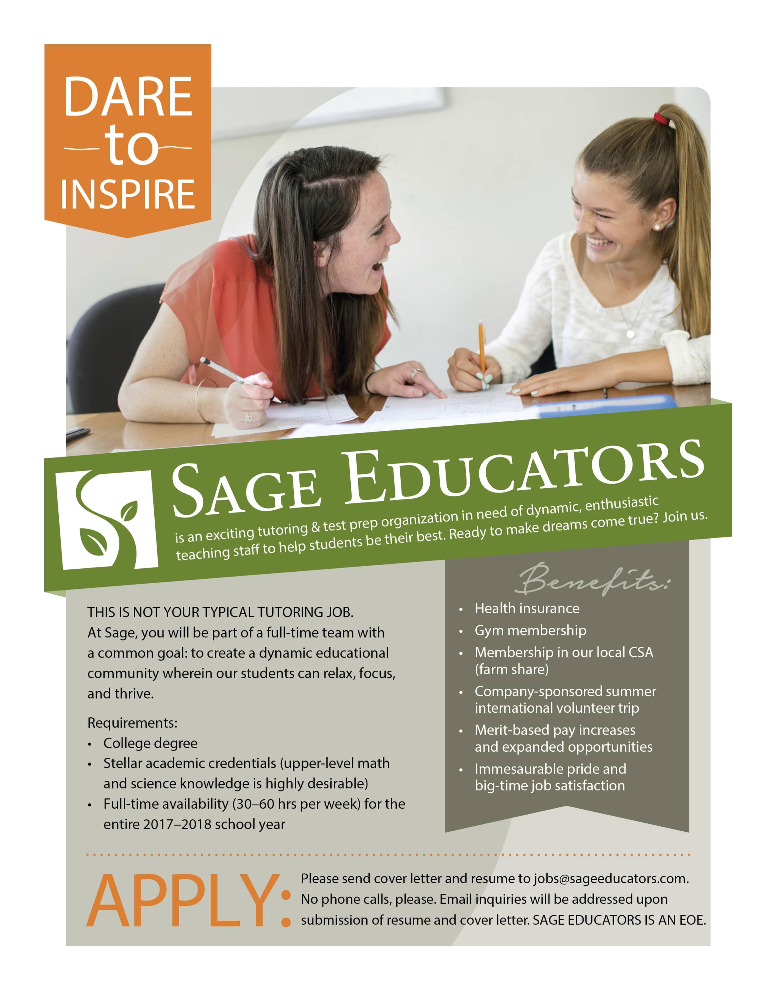 Sage Educators Jobs