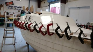Lots of clamps are part of boat building!