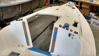 Deck hardware being installed