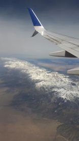 Flying in mountains in Colorado