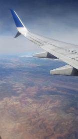 Flying over Canyonlands in Utah