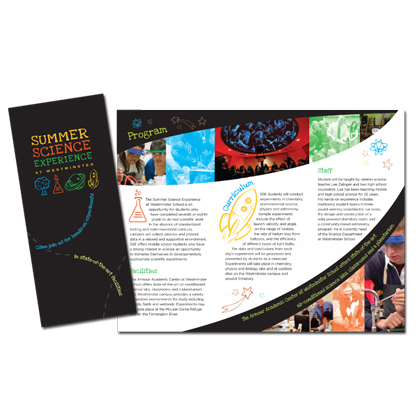 Westminster Summer Sciences Brochure | Sage River Graphics