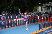 Finish line, 2008 Short-Course World Triathlon Championships