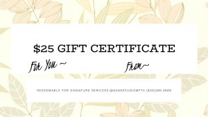 Gift Certificate Save $5 Coupon Sage Studio Marble Falls Massage