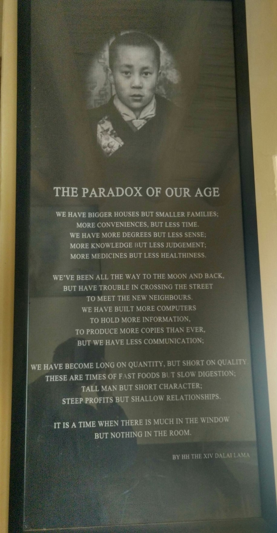 Paradox of our age