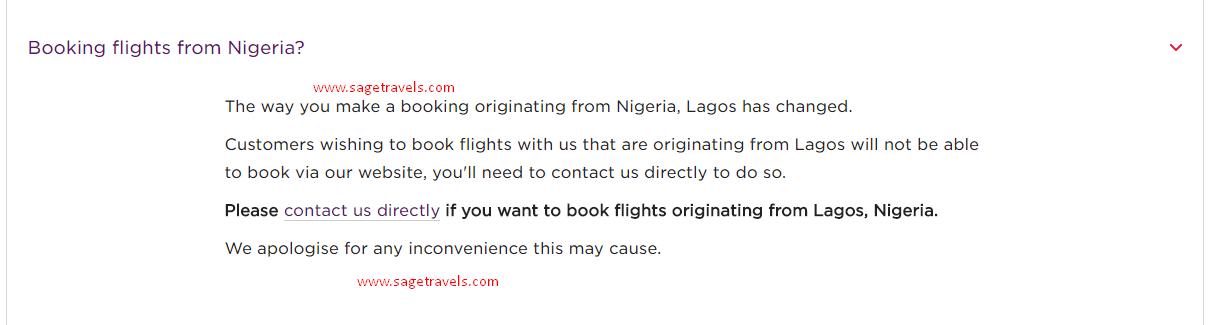 Virgin Atlantic Blocks Nigerians From Booking Flights Online