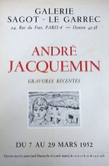 Exposition André Jacquemin - Mars 1952