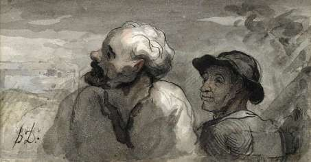 Honoré Daumier - Deux têtes
